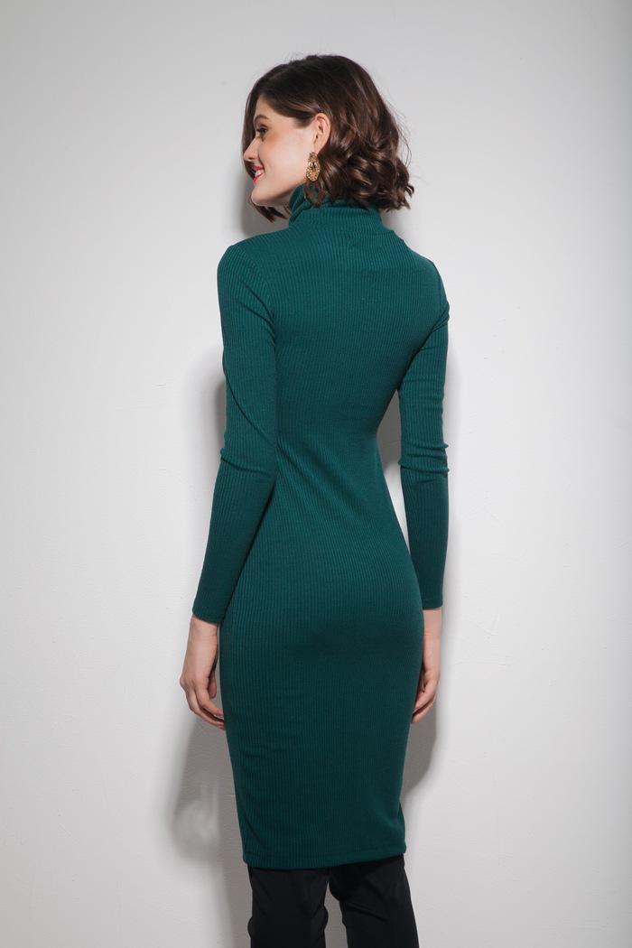 Платье под горло изумрудное - THE LACE