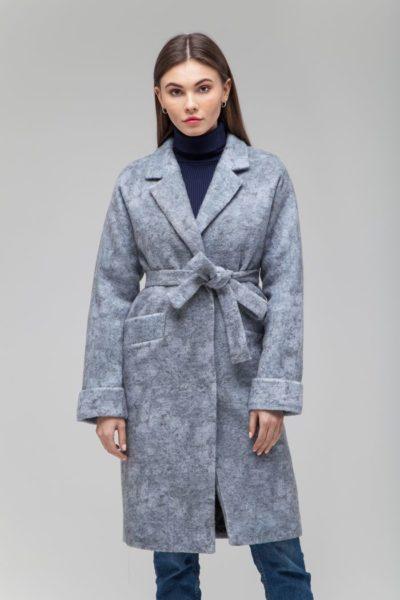 Пальто шерстяное мраморное - THE LACE