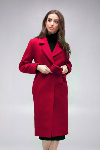 Пальто шерстяное classic красное - THE LACE