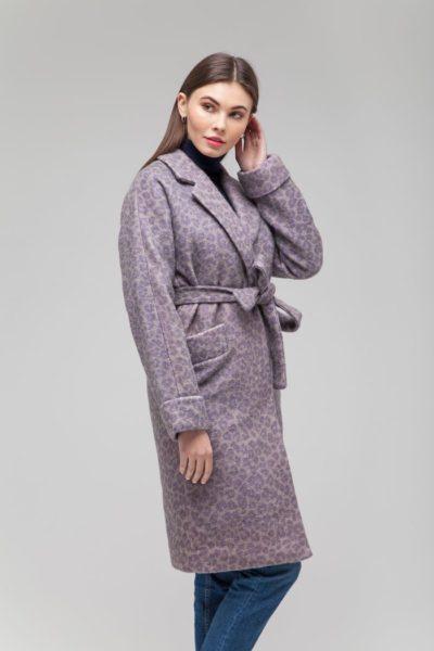 Пальто шерстяное с леопардовым узором - THE LACE