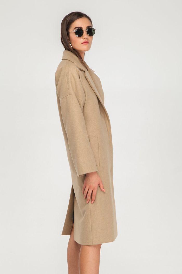 Пальто шерстяное песочное - THE LACE