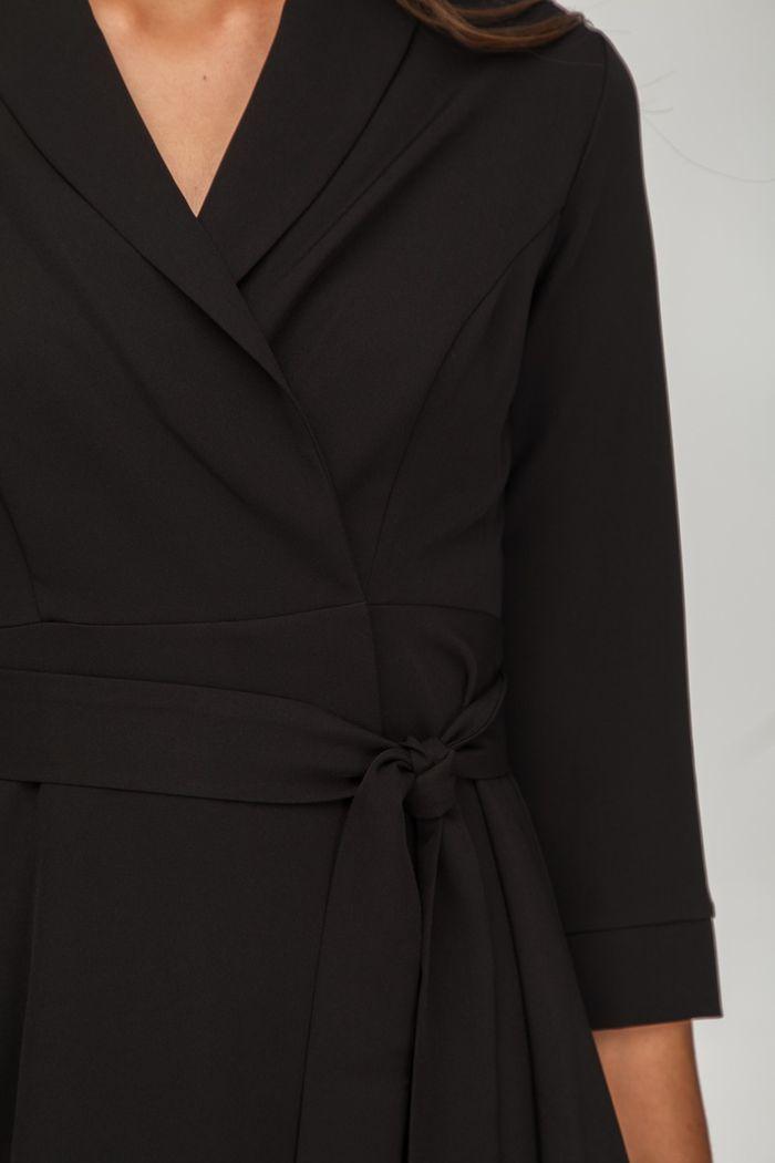 Платье мини на запах черное - THE LACE