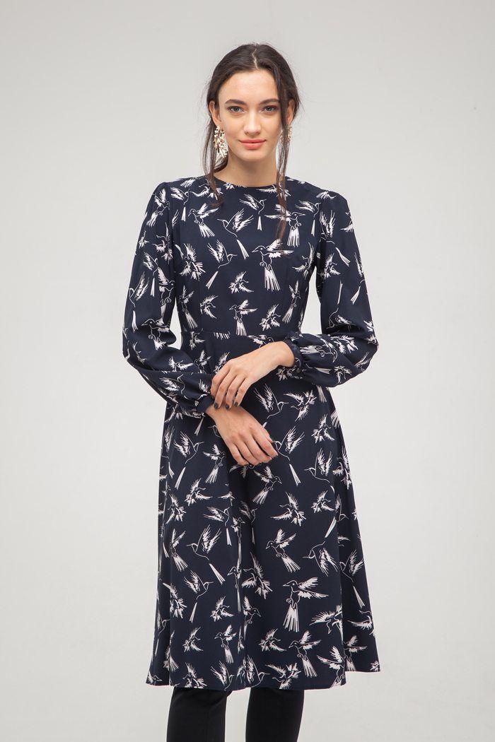 Платье миди Flying birds - THE LACE