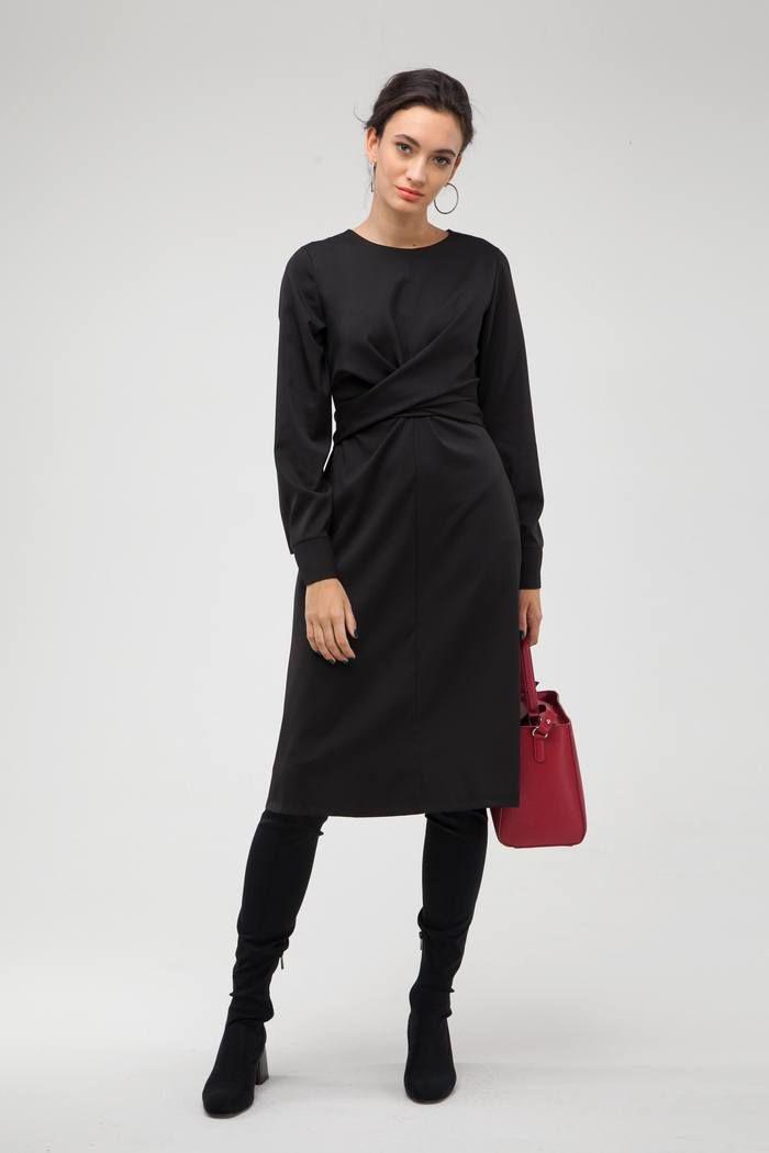 Платье с узлом черное - THE LACE