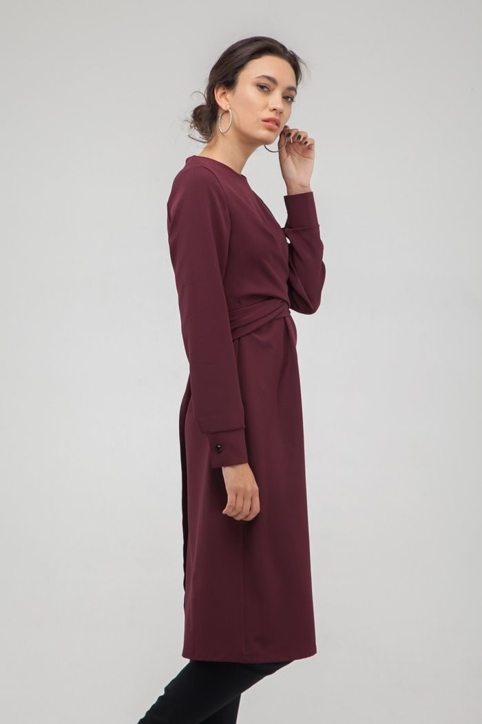 Платье с узлом винное - THE LACE
