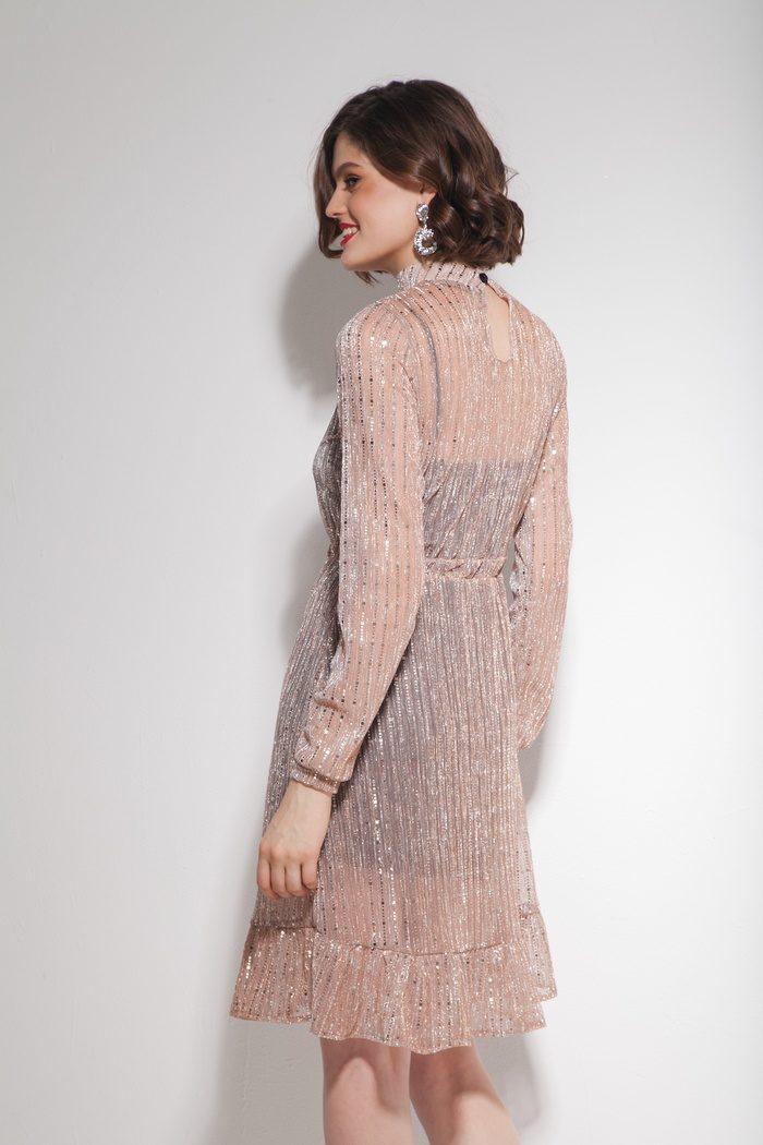 Платье с воланами золотое - THE LACE