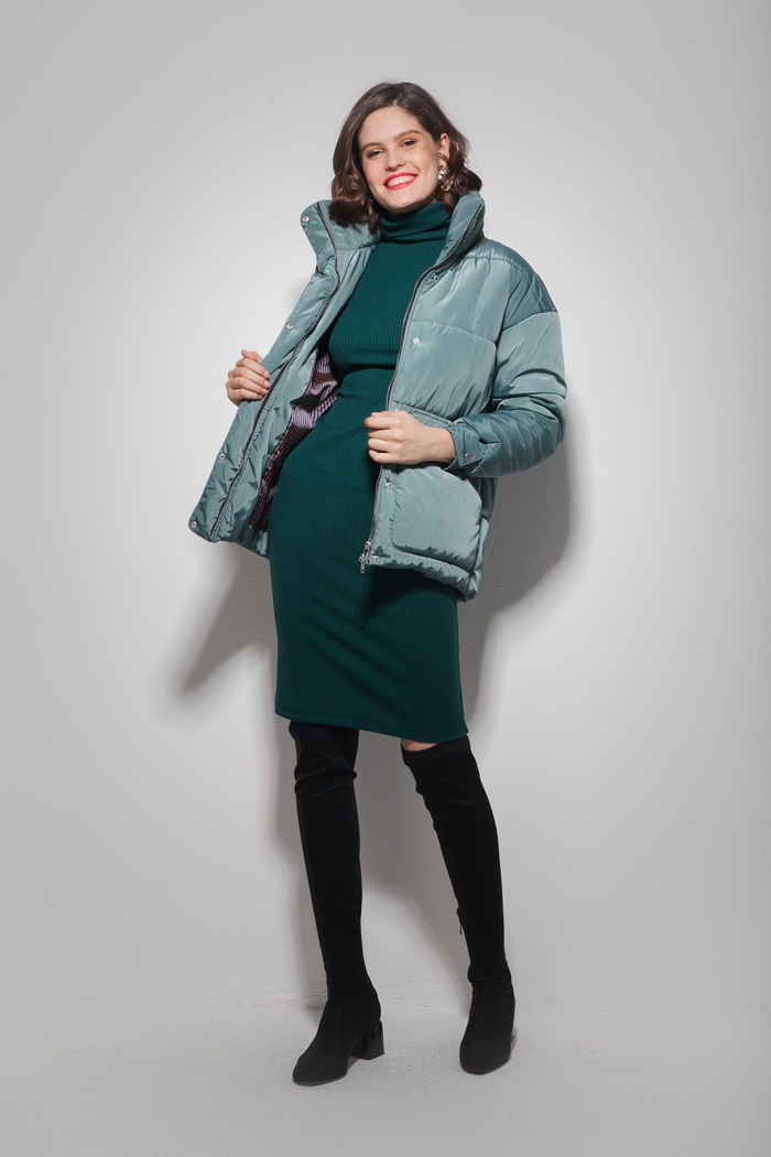 Куртка oversize нефритовая - THE LACE