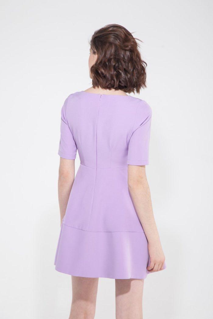 Платье мини с коротким рукавом весенний крокус - THE LACE