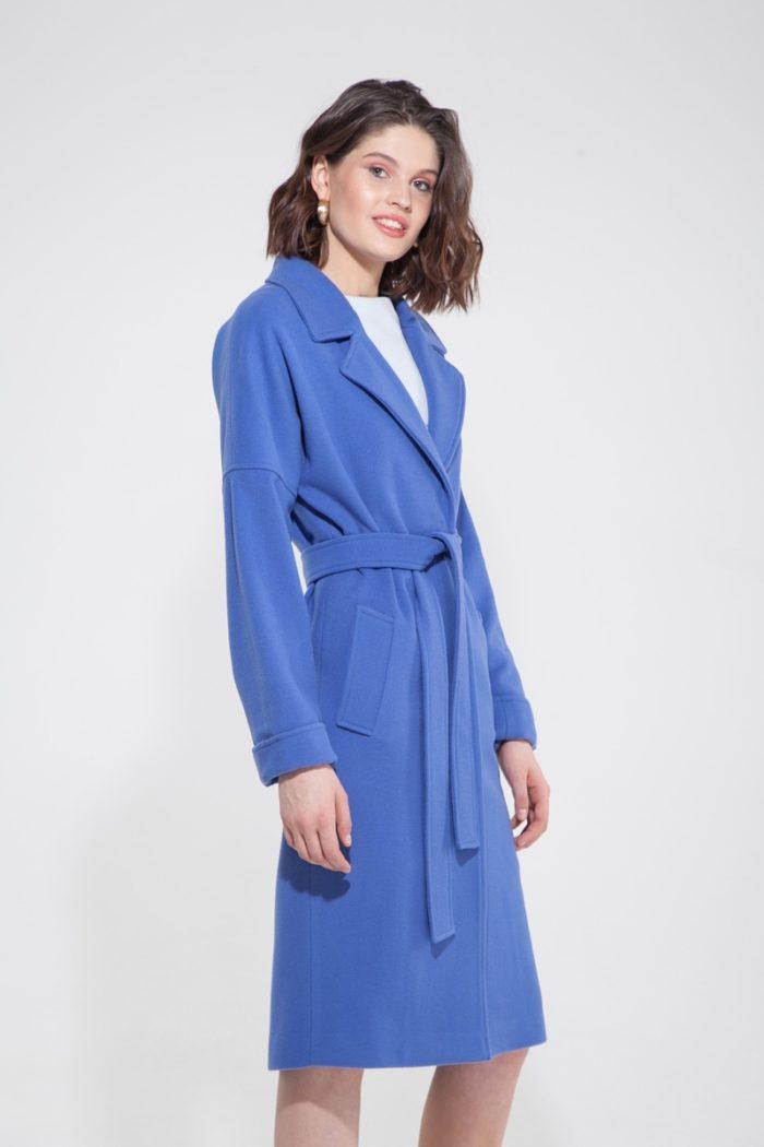 Пальто-халат голубая лаванда - THE LACE