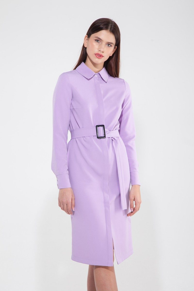 Платье-рубашка весенний крокус - THE LACE