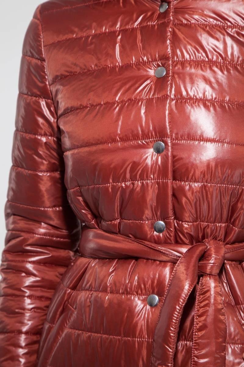 Пальто стёганое медное - THE LACE