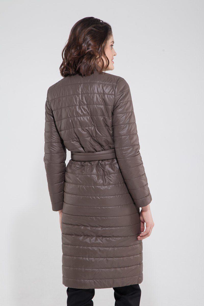 Пальто стёганое капучино - THE LACE