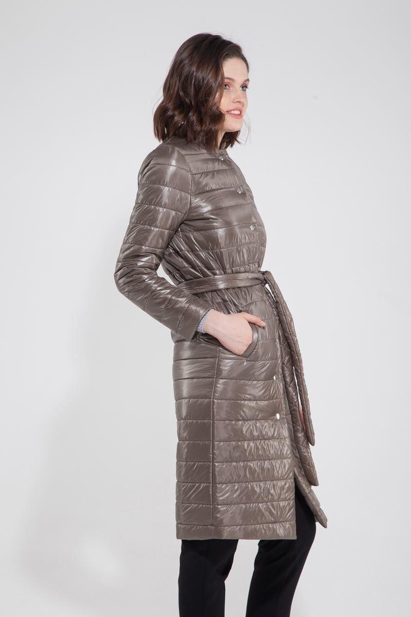 Пальто стёганое оливковое - THE LACE