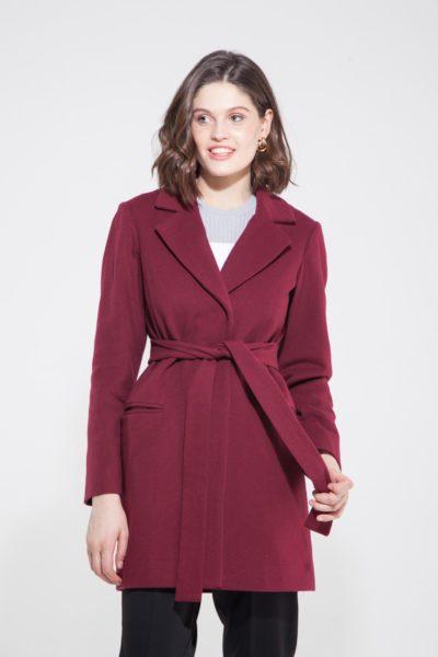 Пальто укороченное рубиновое - THE LACE