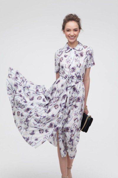 Платье миди с пышной юбкой Gentle cotton - THE LACE