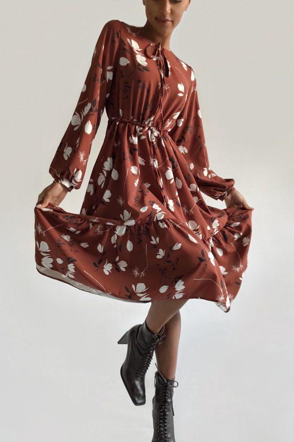 Платье миди с воланами Magnolia - THE LACE