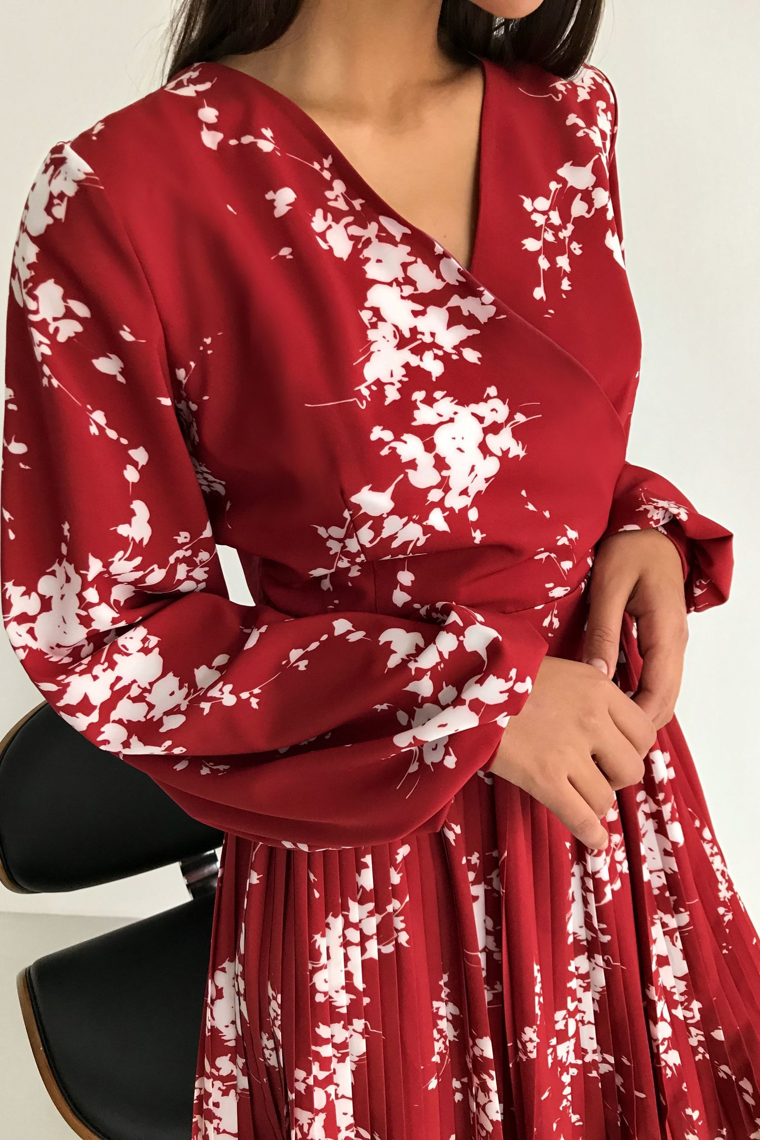 Платье мини терракотовое Mystery flowers - THE LACE