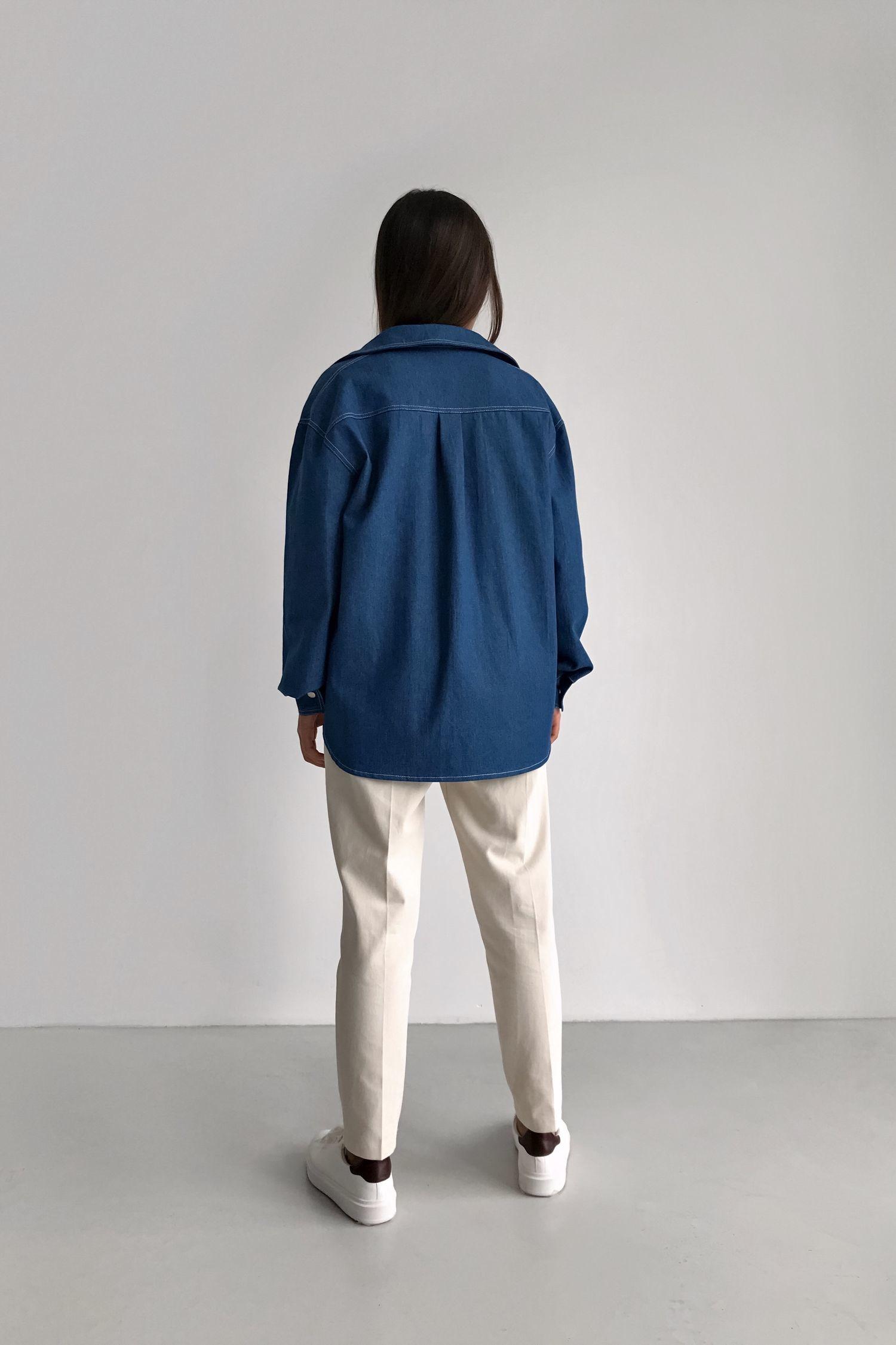 Рубашка из денима темная - THE LACE