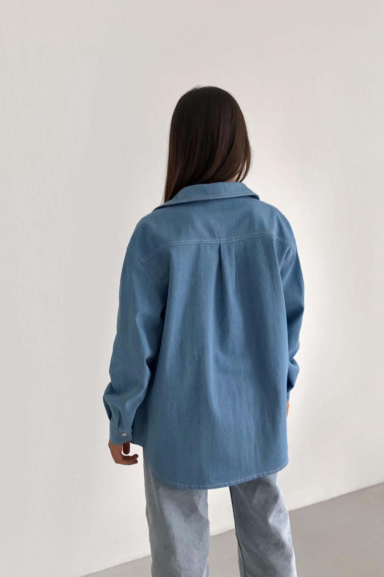 Рубашка из денима светлая - THE LACE