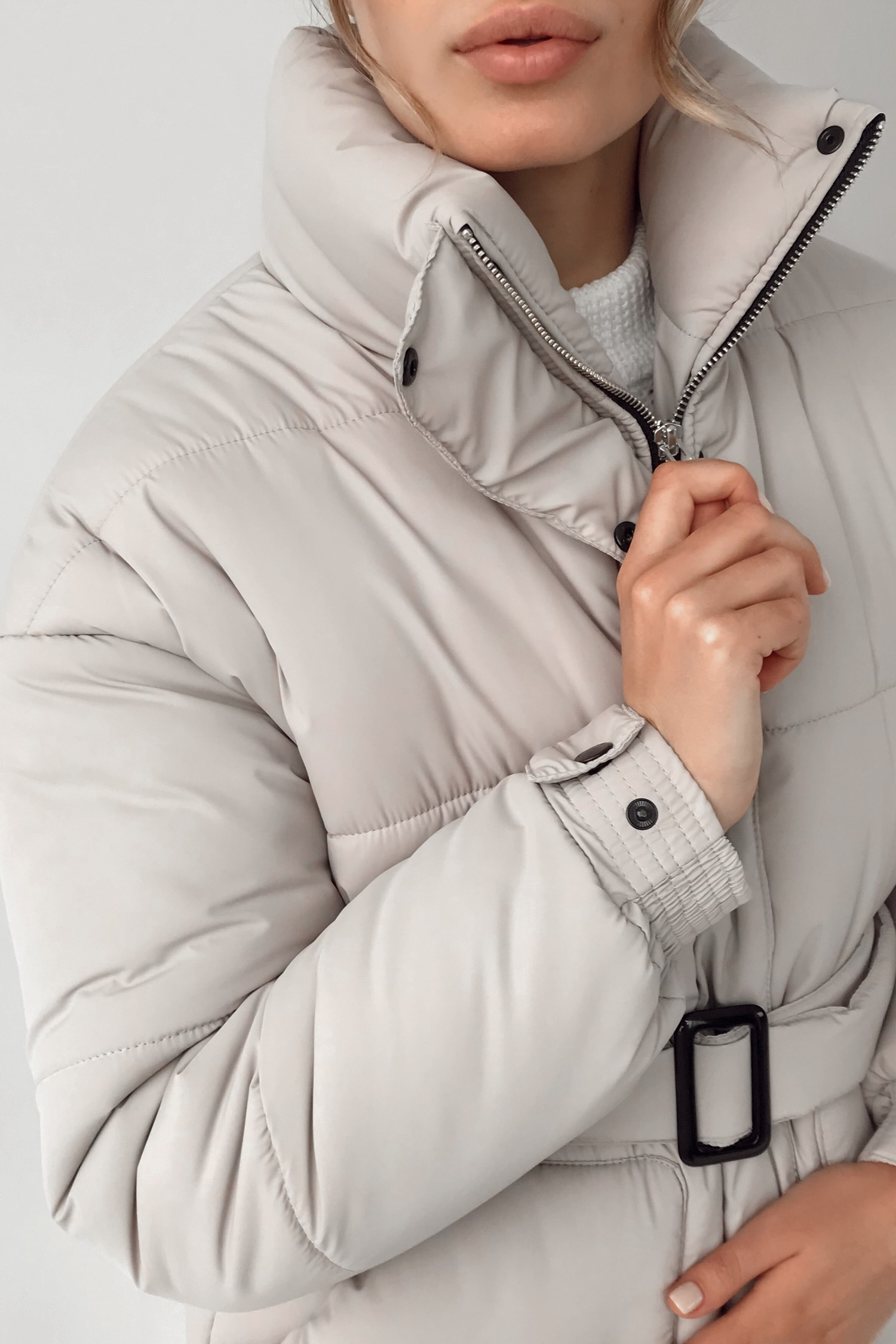 Куртка оверсайз бежевая - THE LACE