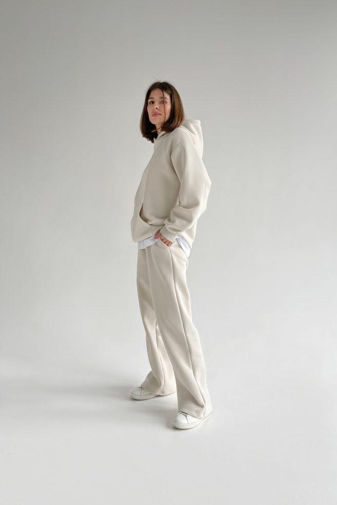 Костюм с брюками прямого кроя и худи milk - THE LACE