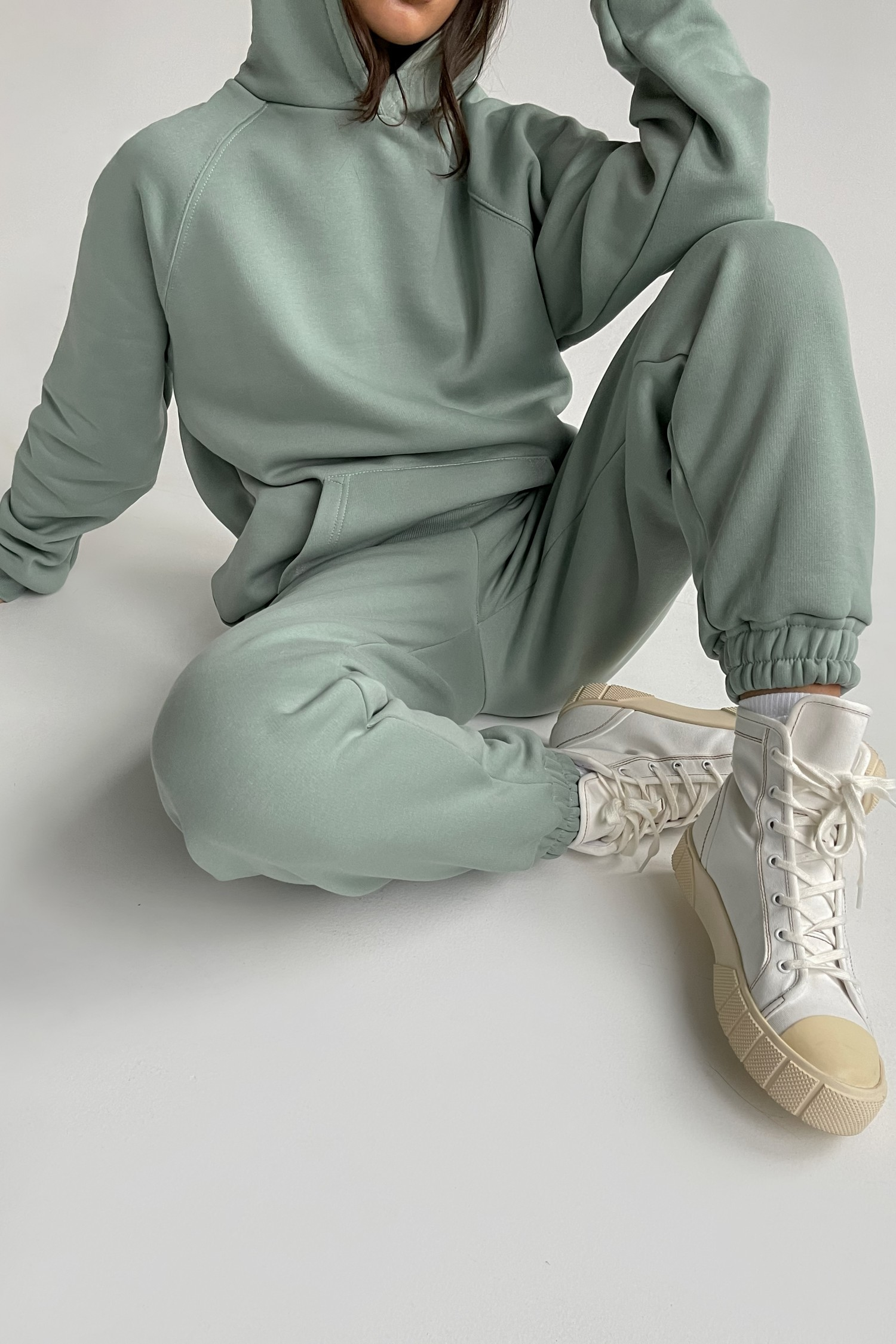 Костюм со спортивными брюками и худи mint - THE LACE