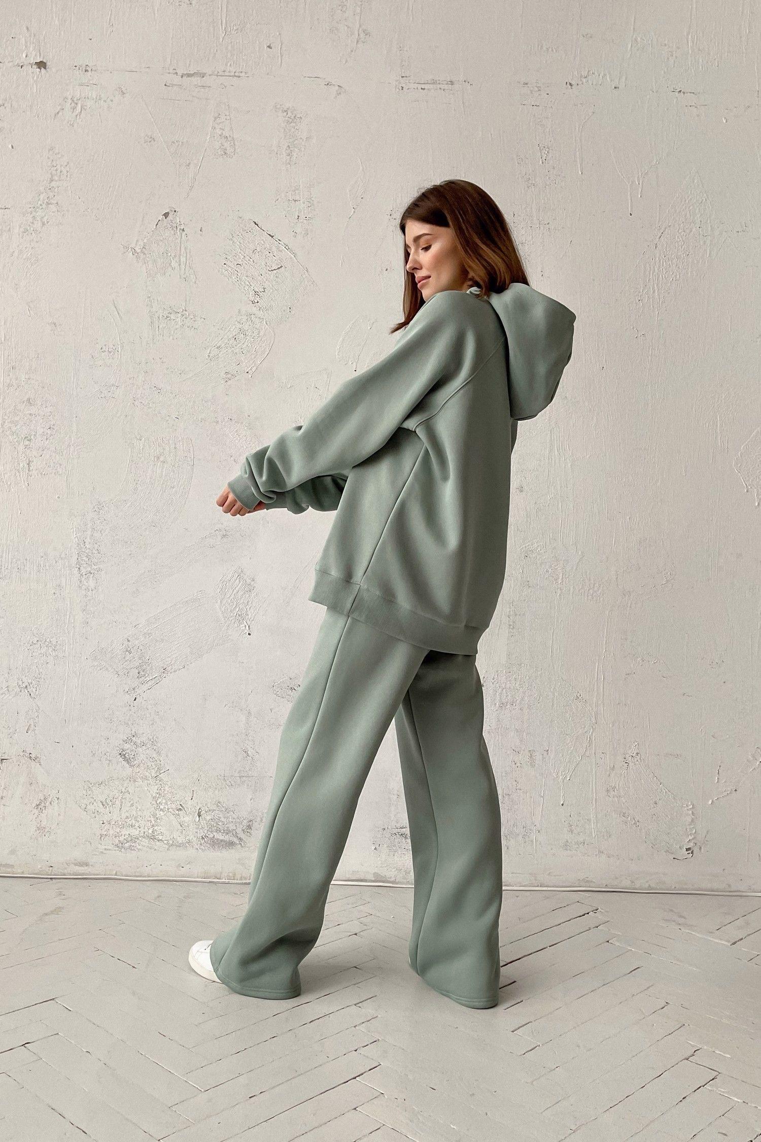 Костюм с брюками прямого кроя и худи mint - THE LACE