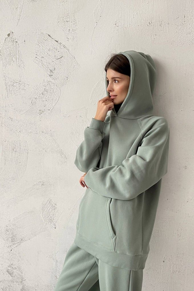Худи oversize mint - THE LACE