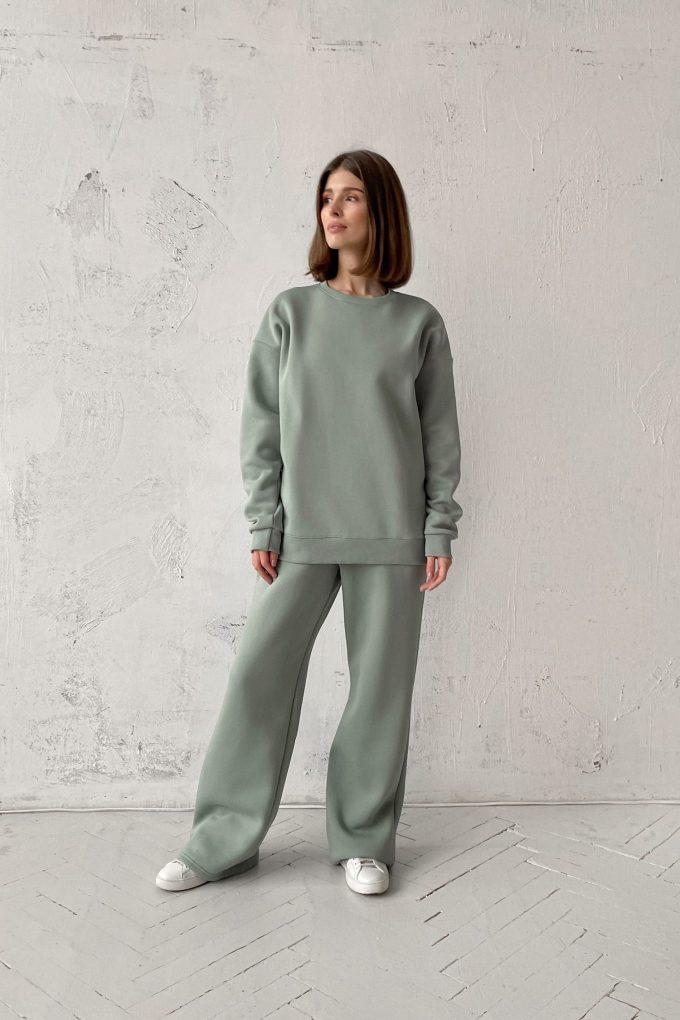 Костюм с брюками прямого кроя и свитшотом mint - THE LACE