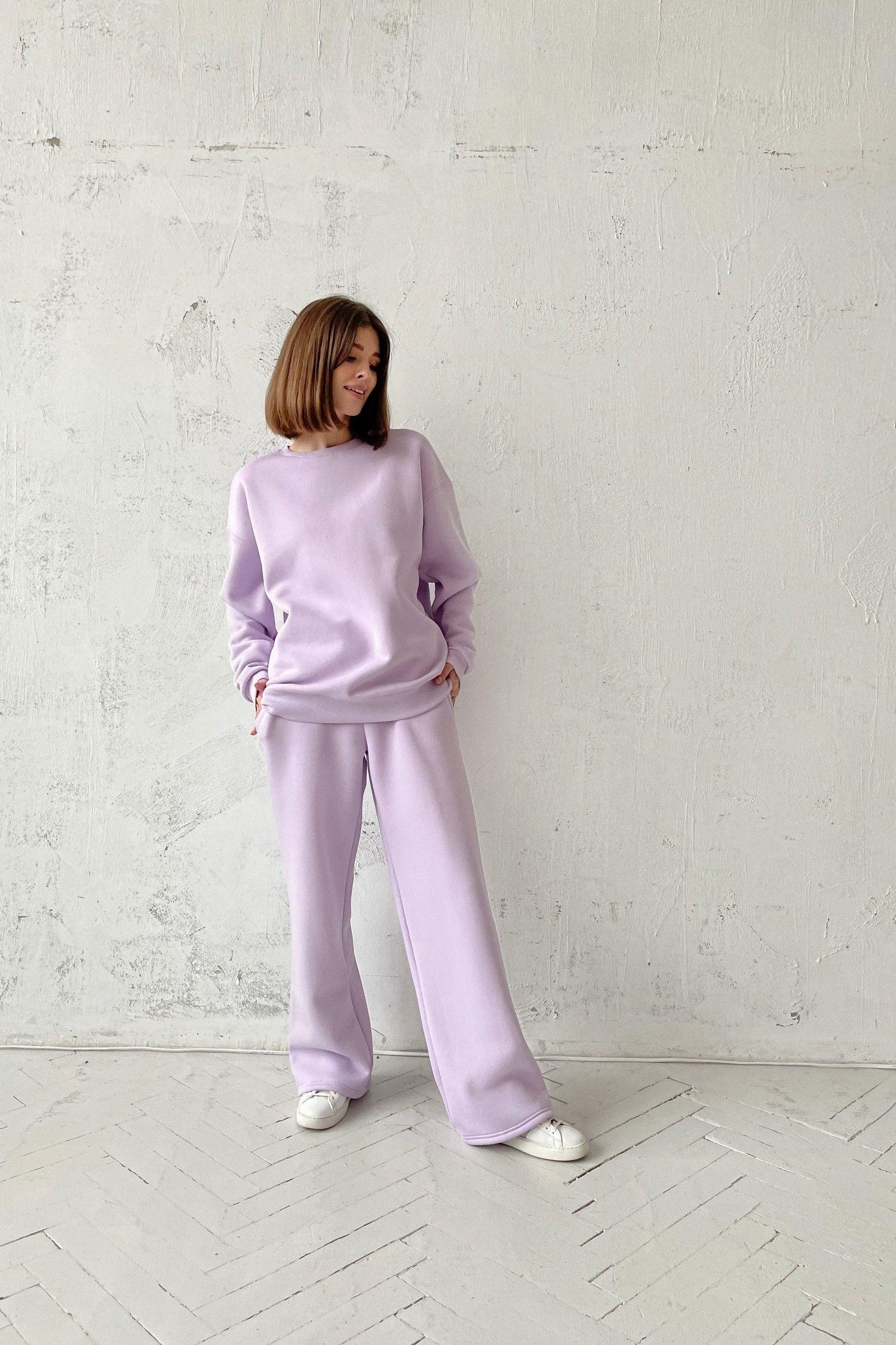 Костюм с брюками прямого кроя и свитшотом violet - THE LACE