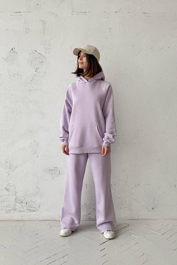 Костюм с брюками прямого кроя и худи violet - THE LACE
