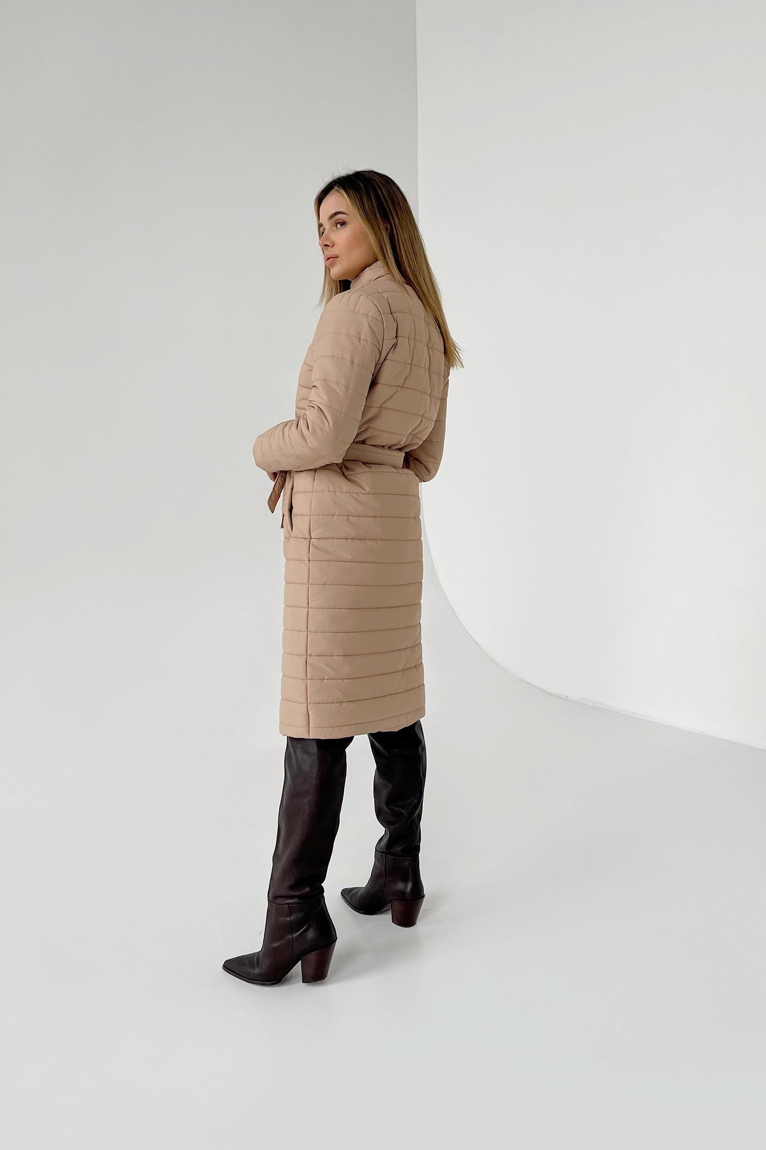 Пальто стеганое camel - THE LACE
