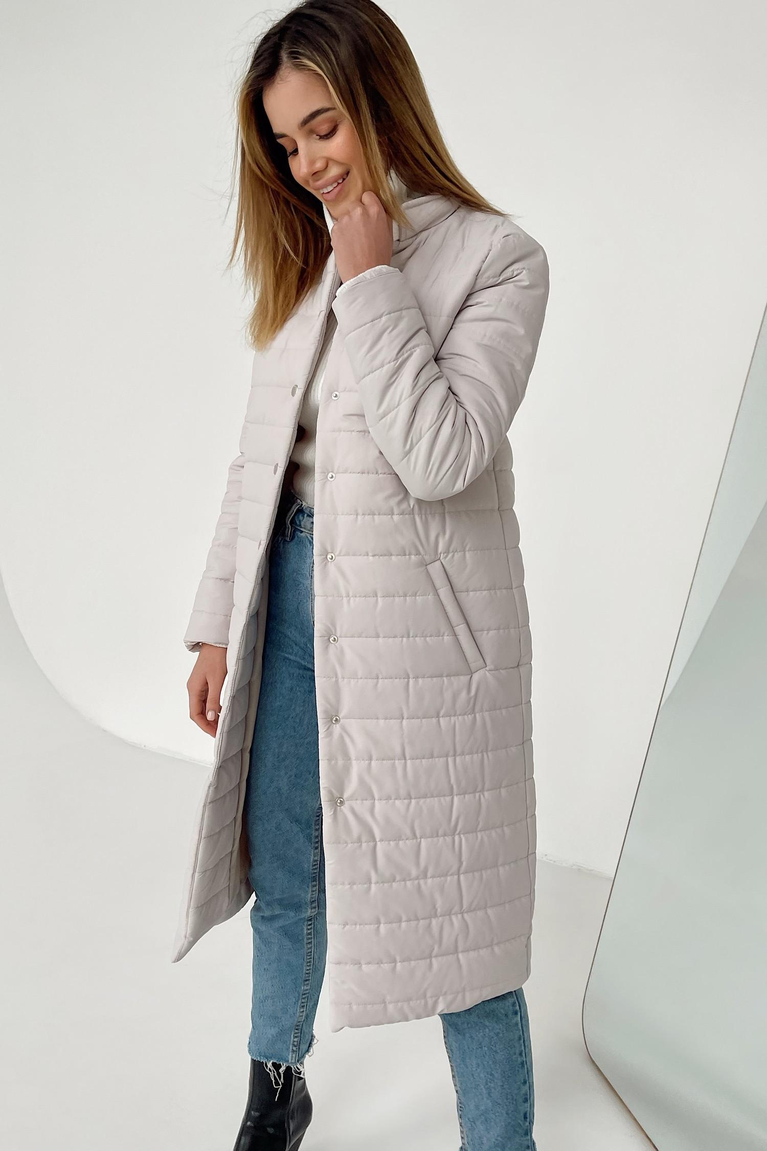 Пальто стеганое молочное - THE LACE