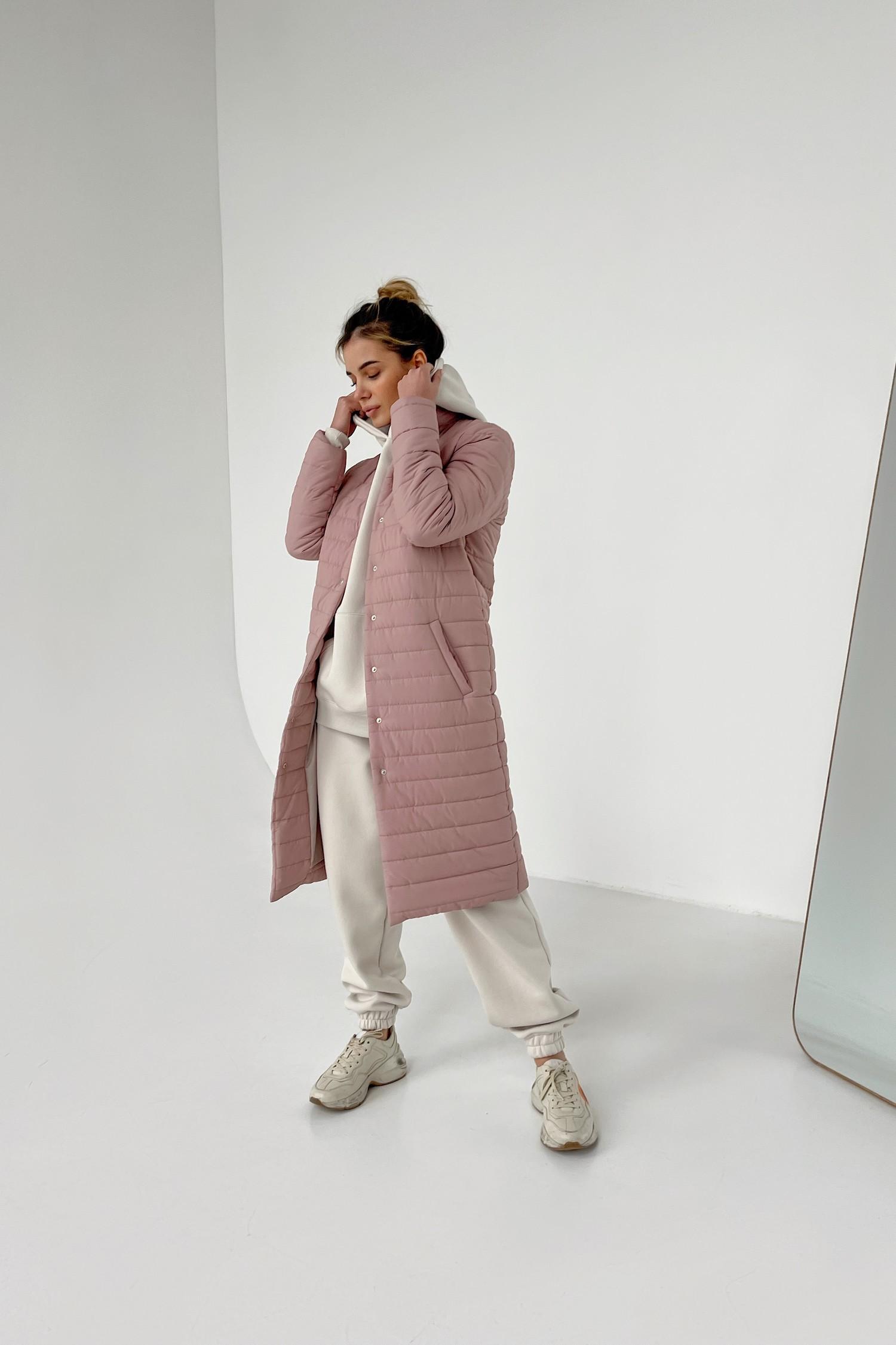 Пальто стеганое пудровое - THE LACE