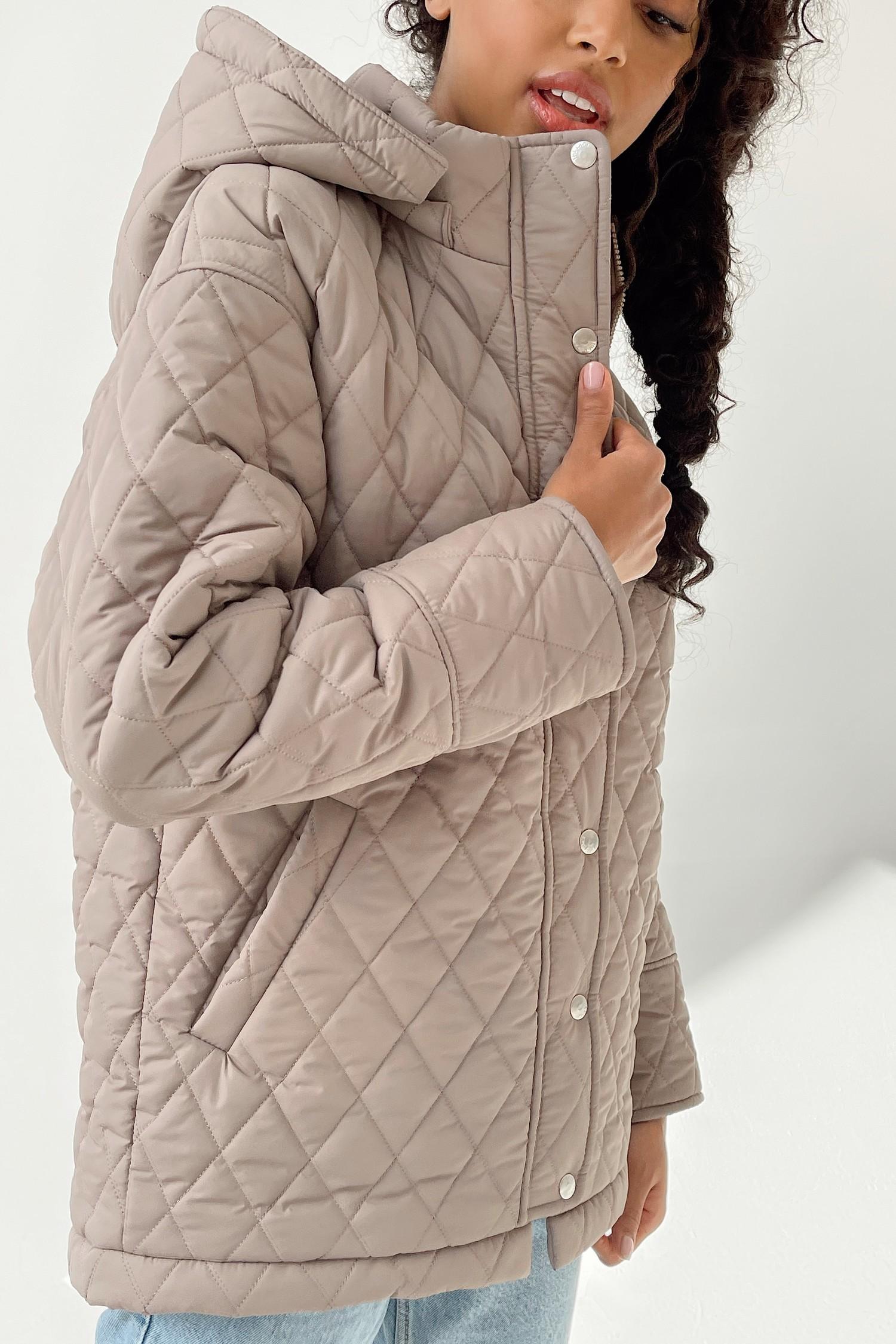 Куртка стеганая в ромб капучино - THE LACE