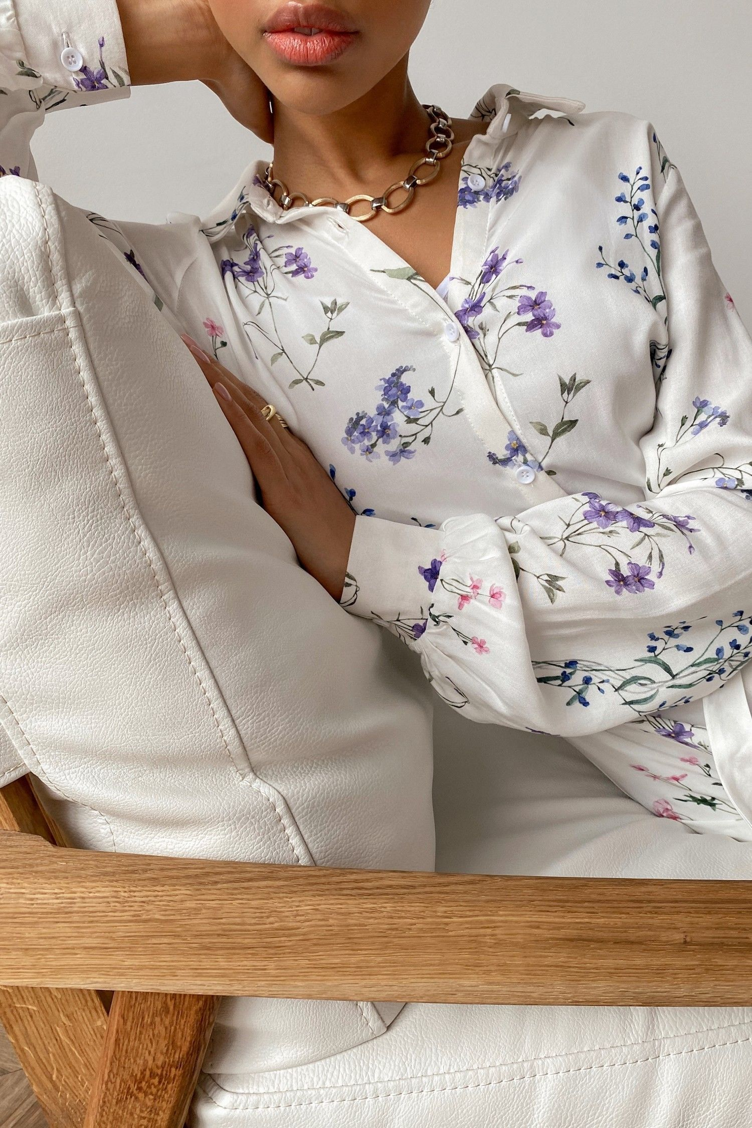 Платье-рубашка с цветочным принтом Wildflowers - THE LACE