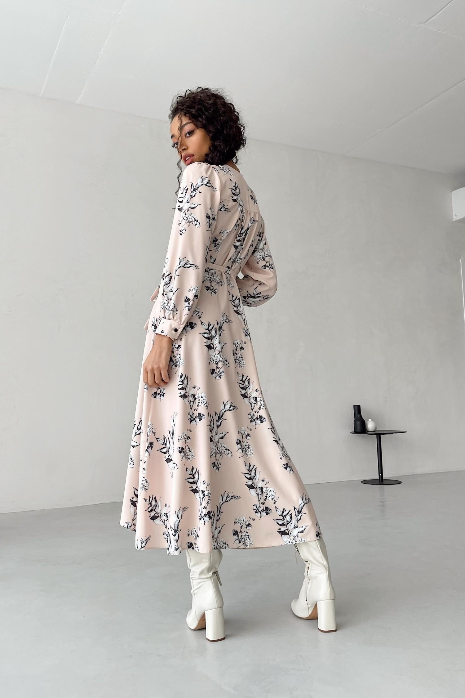 Платье миди на запах Geranium - THE LACE