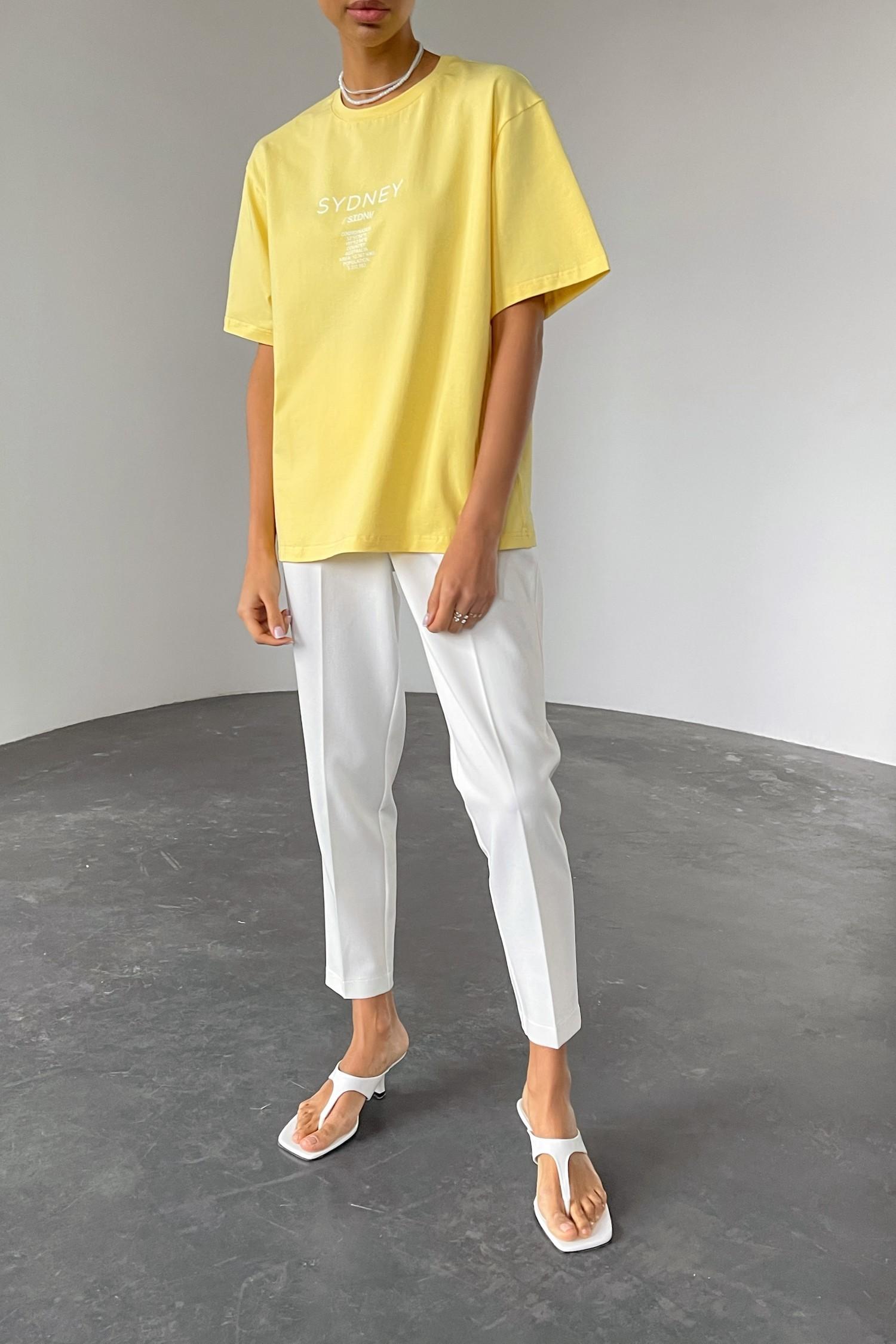 Лимонная футболка с принтом - THE LACE