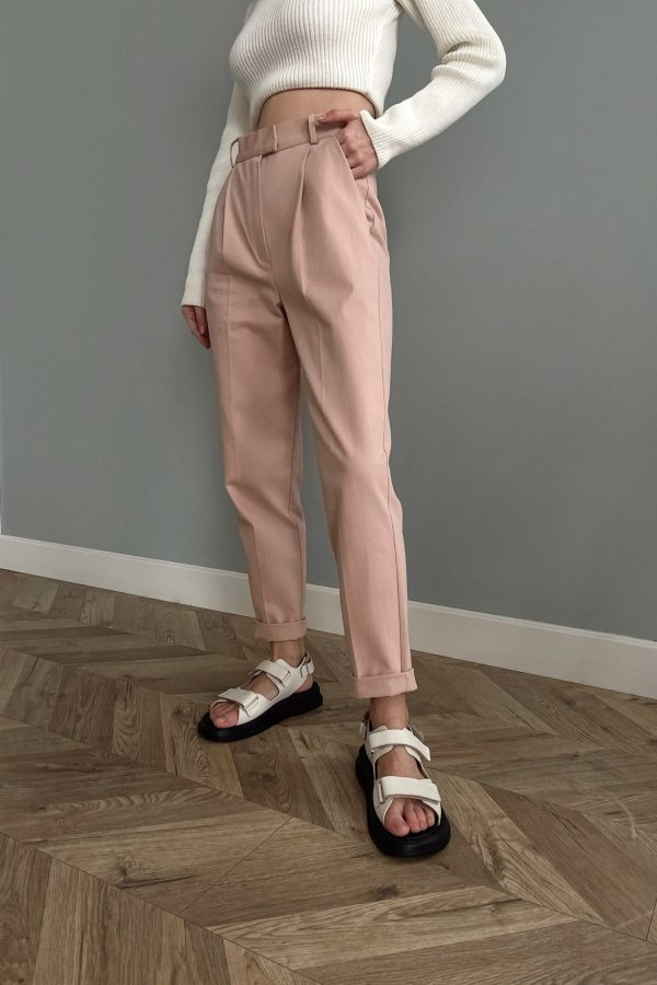 Пудровые брюки из коттона - THE LACE