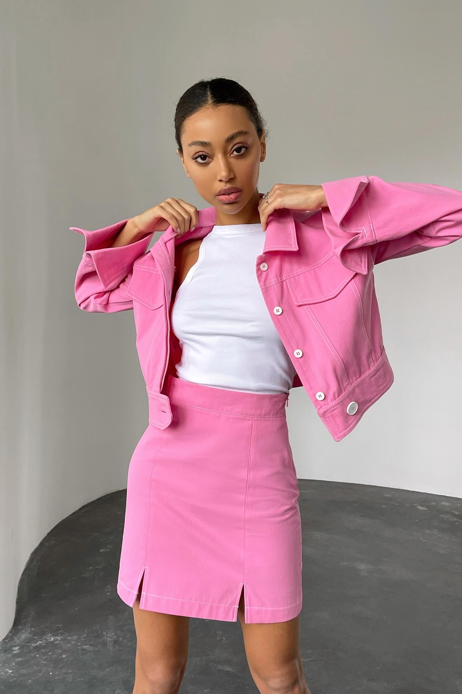 Розовая короткая куртка из коттона - THE LACE