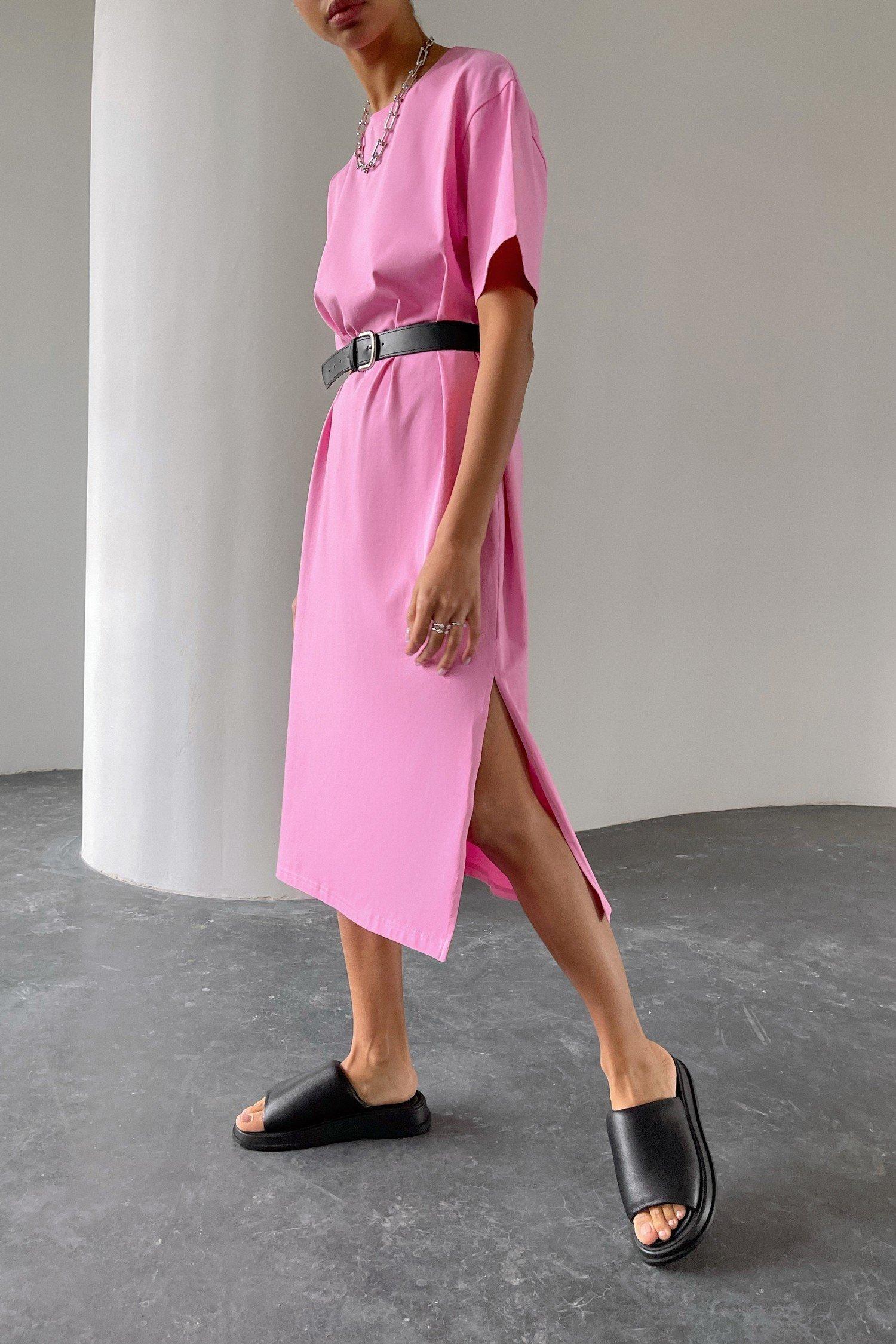 Платье-футболка розовое - THE LACE