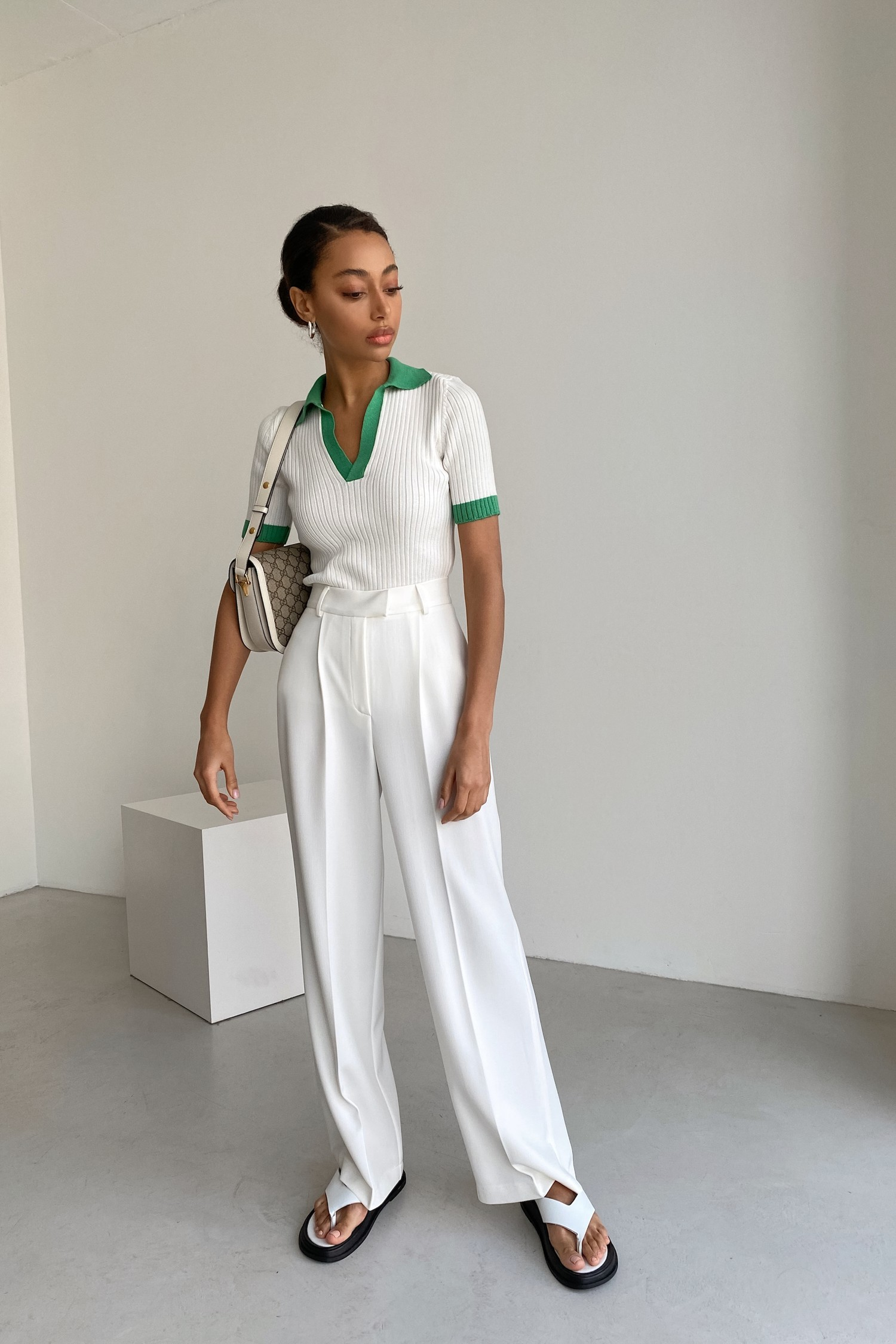 Белые брюки палаццо - THE LACE