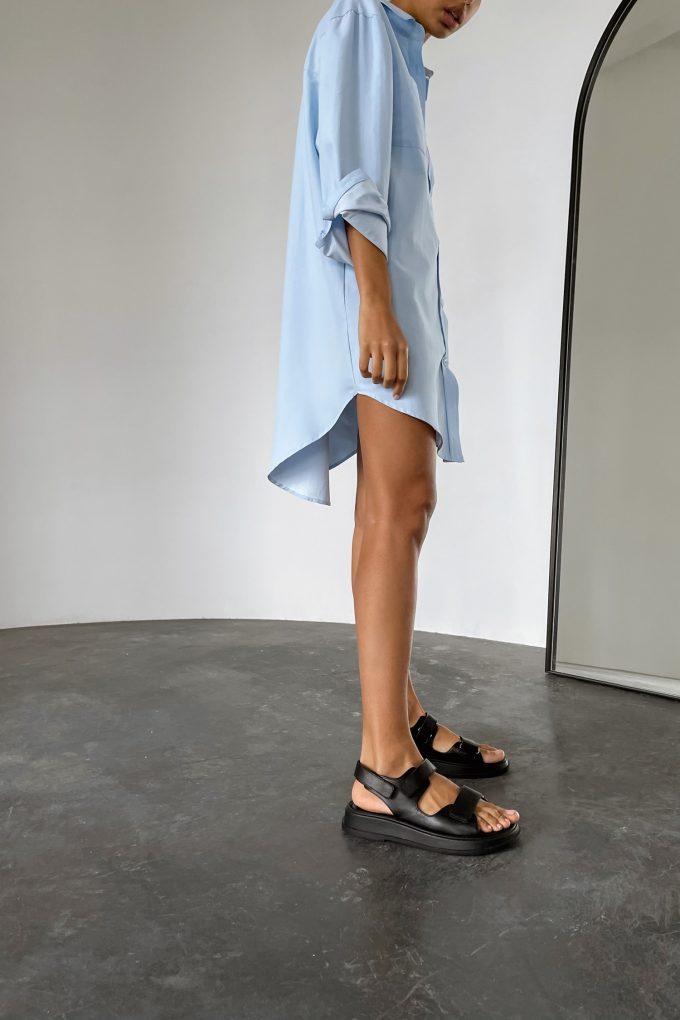 Голубое платье-рубашка - THE LACE