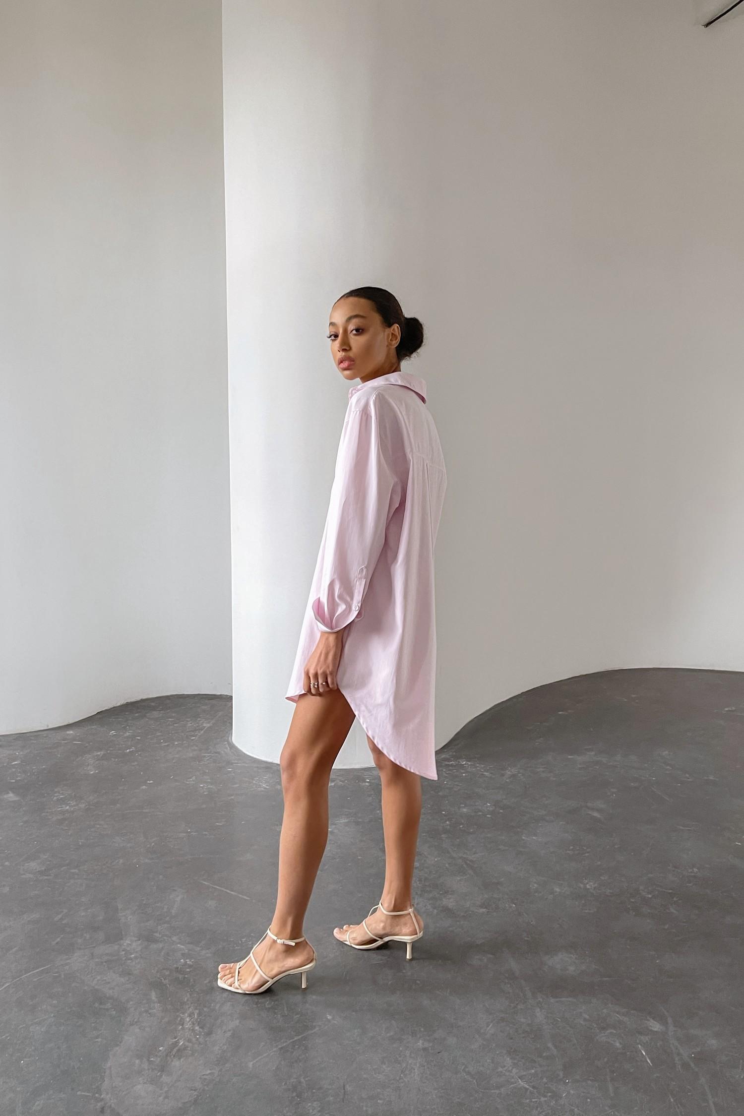 Розовое платье-рубашка - THE LACE