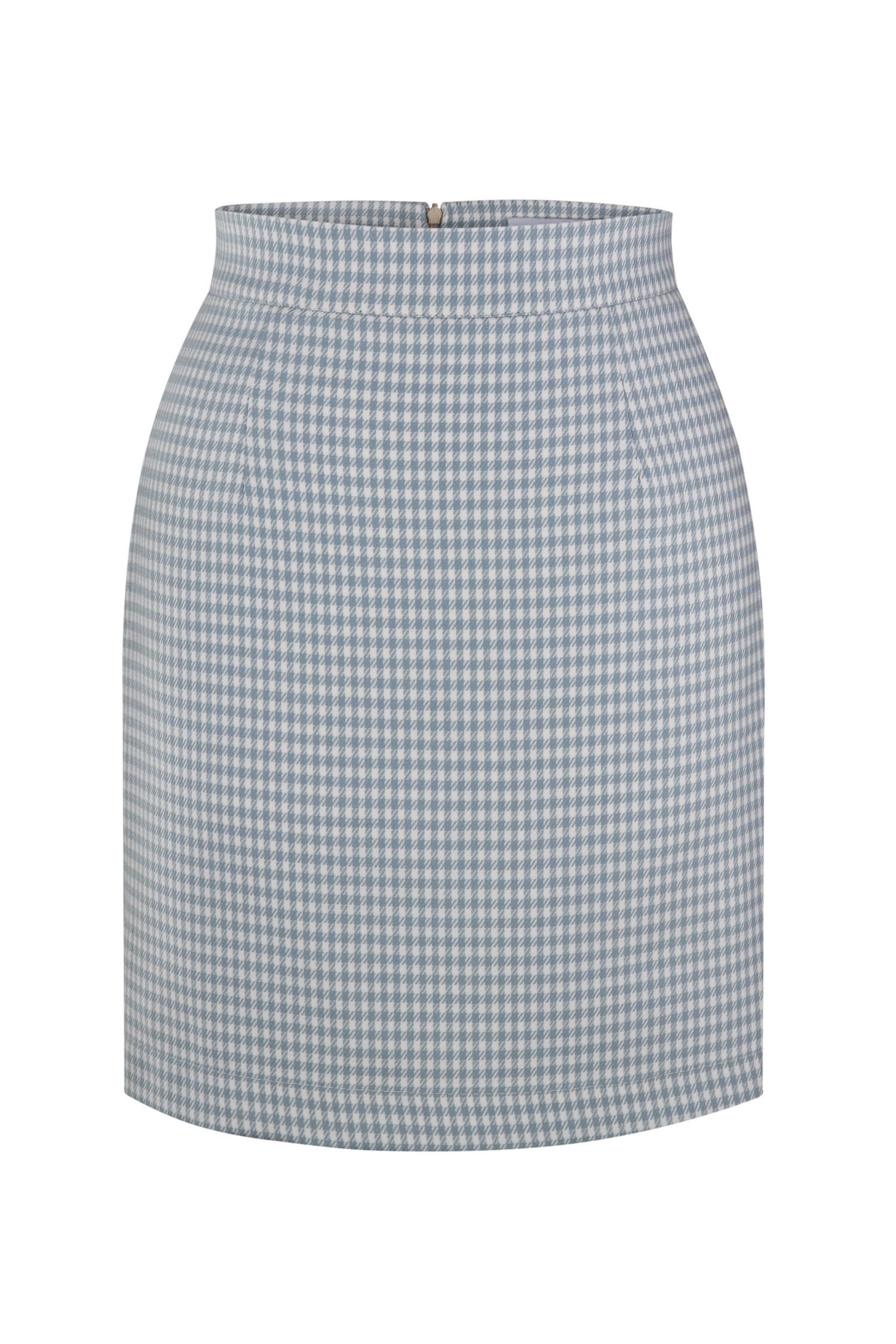 Голубая мини юбка с узором - THE LACE