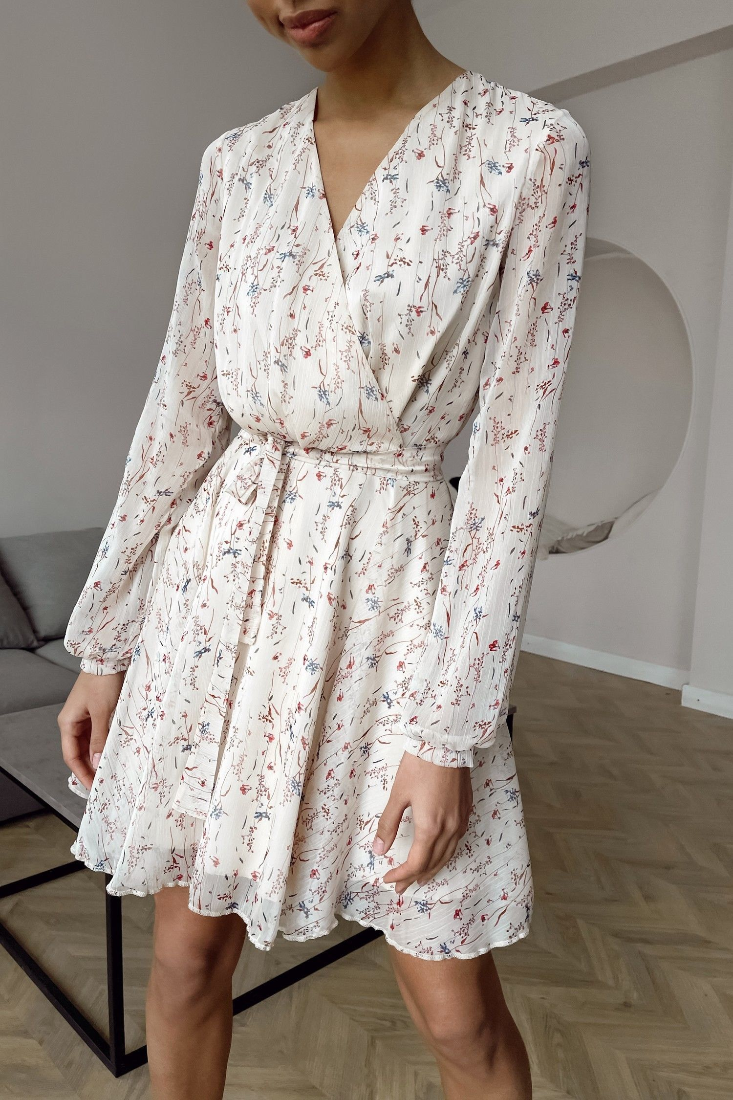 Платье мини бежевое Summer bloom - THE LACE