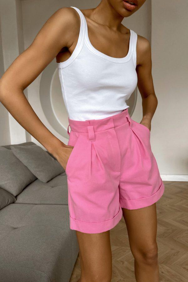 Розовые короткие шорты - THE LACE