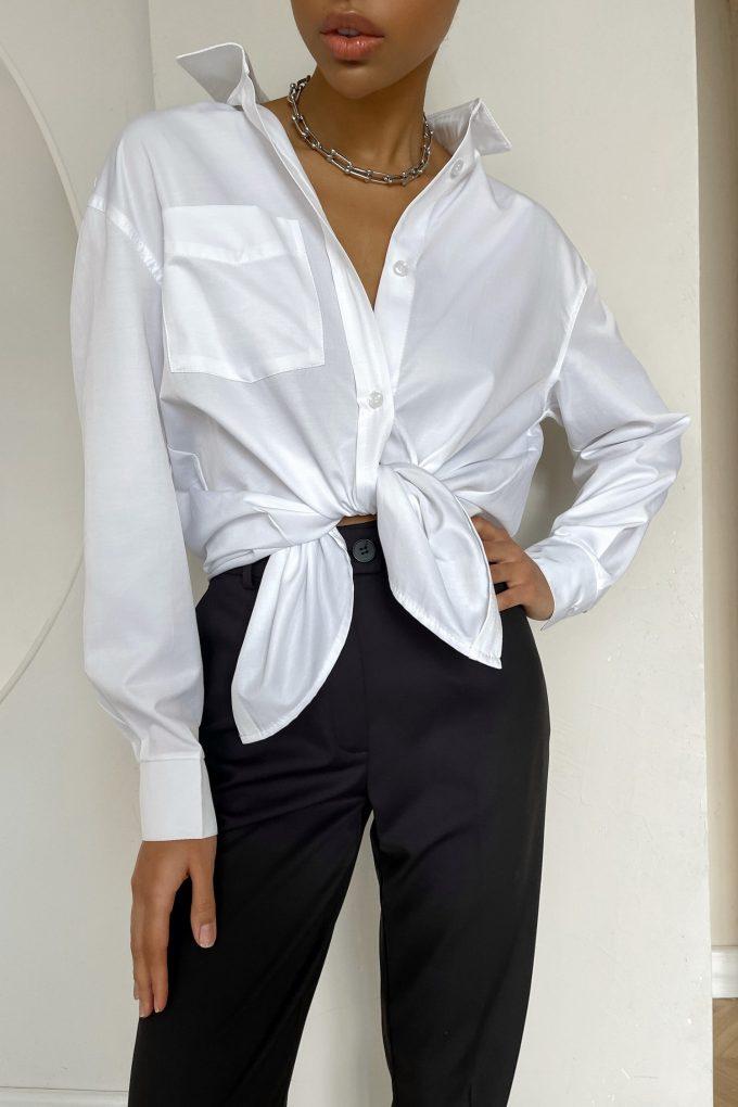 Белая рубашка оверсайз - THE LACE