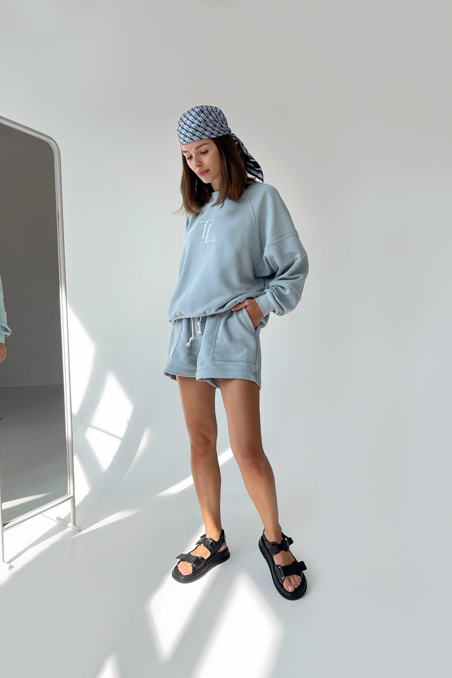 Голубые трикотажные шорты - THE LACE