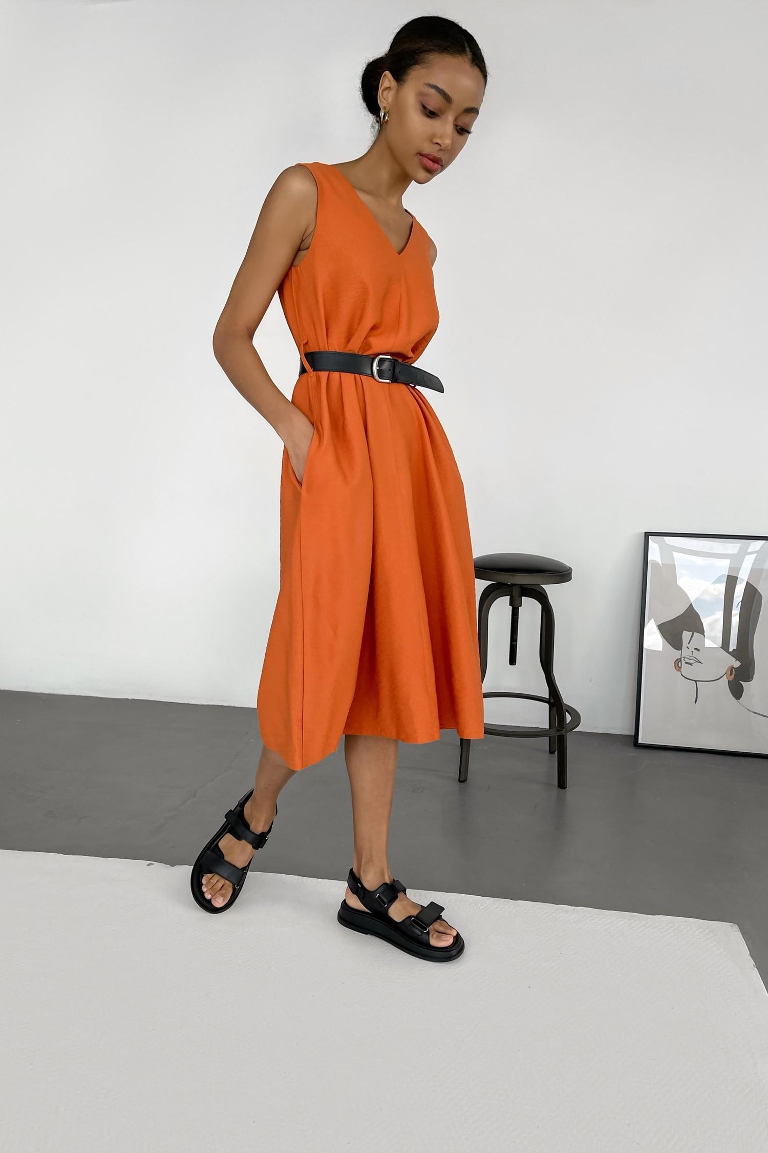 Сарафан с вырезом оранжевый - THE LACE